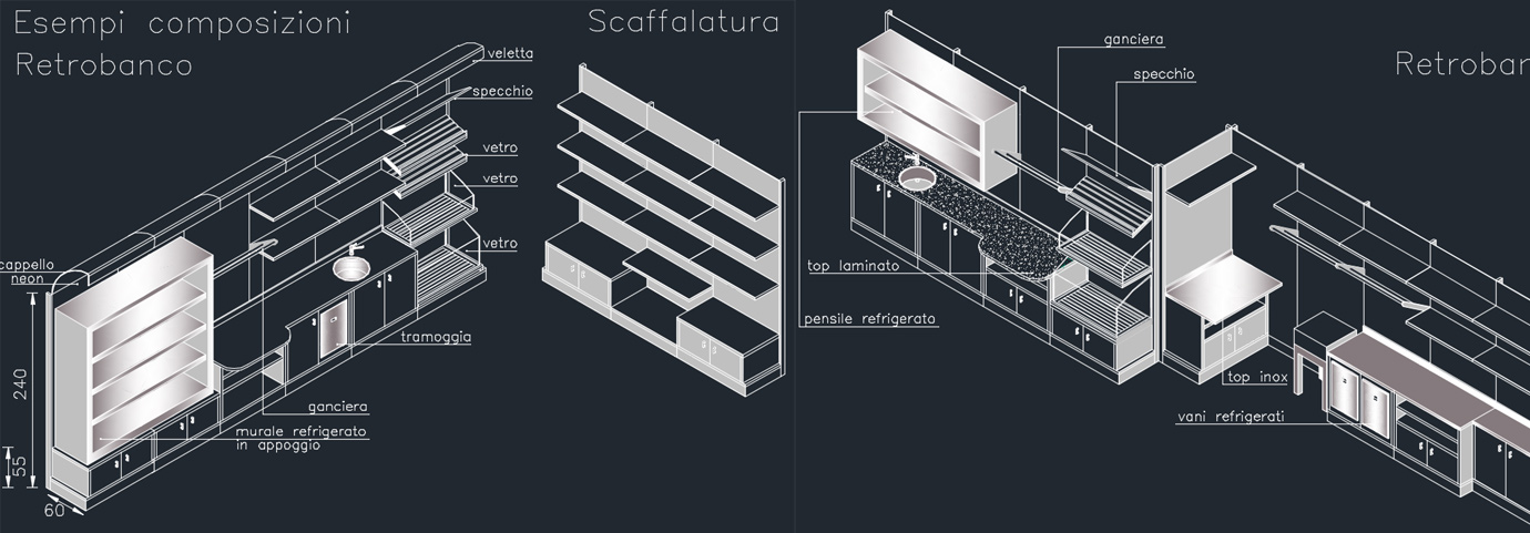 Produzione scaffalature bio e mobili effebi contract group for Effebi arredamenti